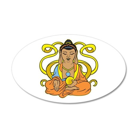 Buddha Flowing Energy 20x12 Oval Wall Decal