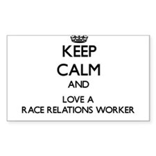 Keep Calm and Love a Race Relations Worker Decal