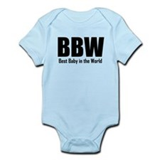 BBW Best Baby In The World Body Suit