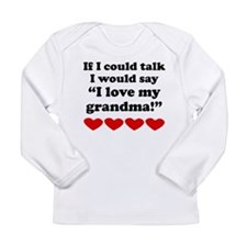 I Love My Grandma Long Sleeve T-Shirt