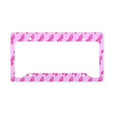 Breast Cancer Awareness Ribbo License Plate Holder