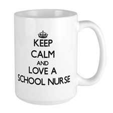 Keep Calm and Love a School Nurse Mugs