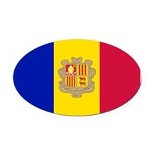 Andorra Oval Car Magnet
