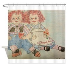 Raggedy Anne and Andy Shower Curtain