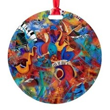 Music Trio Curvy Piano Colorful Abs Ornament