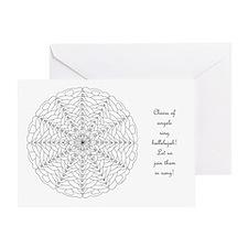 Oh Tannenbaum Mandala Coloring Card W/Msg