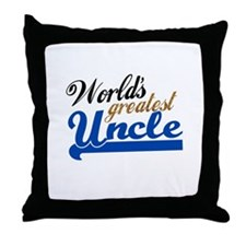 Worlds Greatest Uncle Throw Pillow
