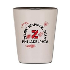 Zombie Response Team Philadelphia Shot Glass