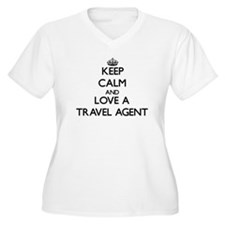 Keep Calm and Love a Travel Agent Plus Size T-Shir