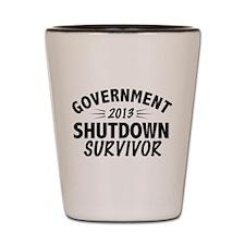Government Shutdown Survivor Shot Glass
