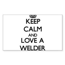Keep Calm and Love a Welder Decal