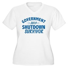 Government Shutdown Survivor Plus Size T-Shirt