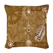 Steam Punk'd - Homed Collectio Woven Throw Pillow
