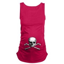 Skull and Crossbones Maternity Tank Top