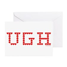 UGH Valentine Hearts Greeting Cards (Pk of 10)