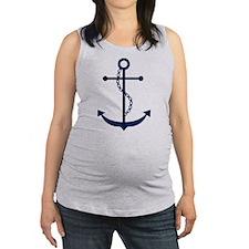 Blue Anchor Maternity Tank Top