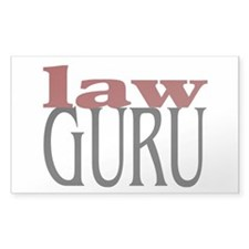 Law Guru Rectangle Decal