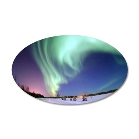 Aurora Borealis 35x21 Oval Wall Decal