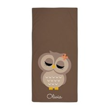 Single Owl Beach Towel