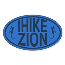 I Hike Zion Lizard - Blue