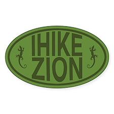 I Hike Zion Lizard - Green