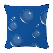 Blue Bubbles Woven Throw Pillow
