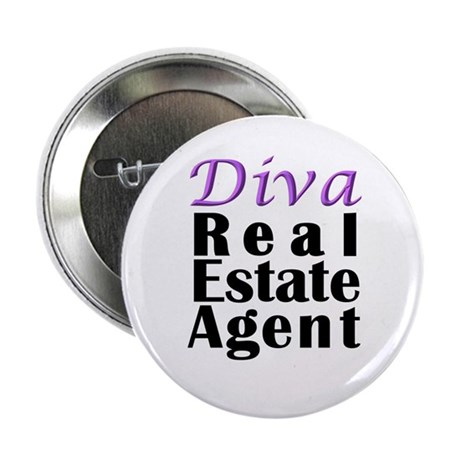 "Diva Real estate Agent 2.25"" Button (10 pack)"