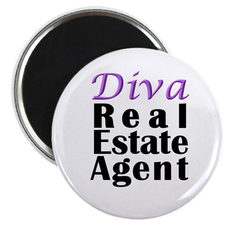 "Diva Real estate Agent 2.25"" Magnet (10 pack)"