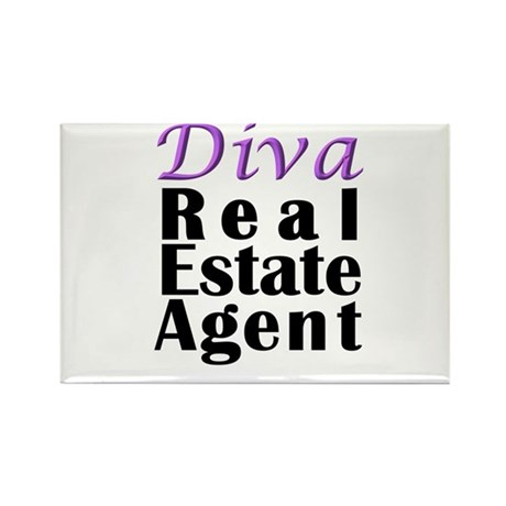 Diva Real estate Agent Rectangle Magnet
