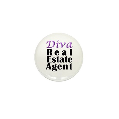 Diva Real estate Agent Mini Button (10 pack)