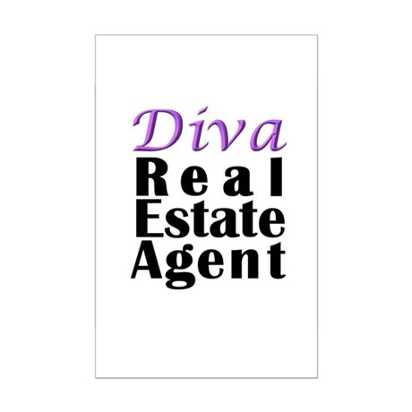 Diva Real estate Agent Mini Poster Print
