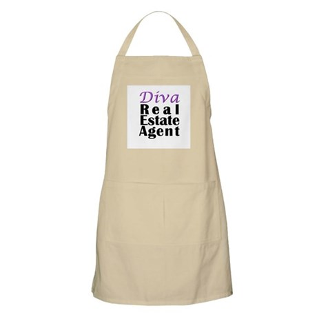 Diva Real estate Agent BBQ Apron