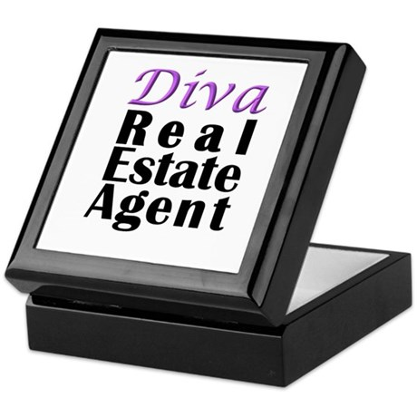 Diva Real estate Agent Keepsake Box