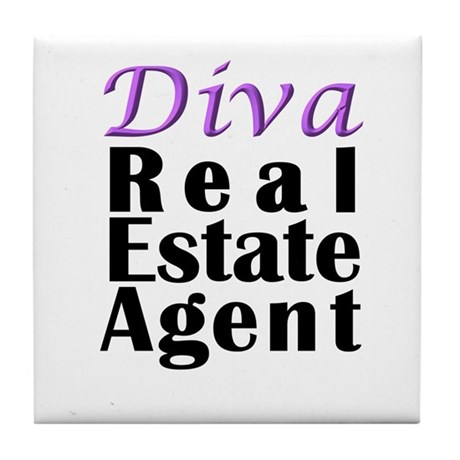 Diva Real estate Agent Tile Coaster