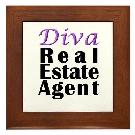 Diva Real estate Agent Framed Tile