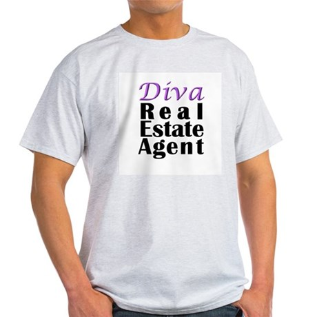 Diva Real estate Agent Ash Grey T-Shirt