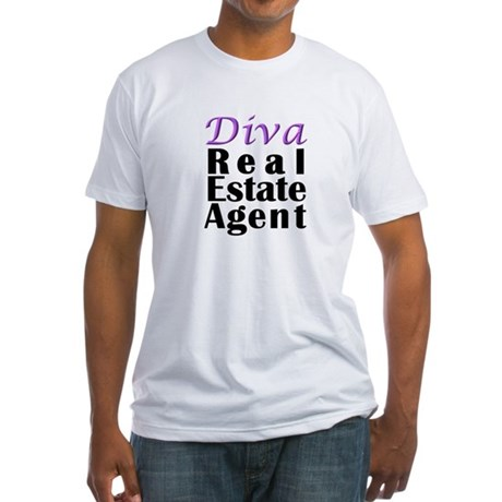 Diva Real estate Agent Fitted T-Shirt