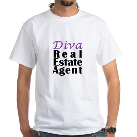 Diva Real estate Agent White T-Shirt