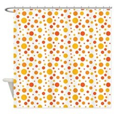 Orange Grove Dot Pattern Shower Curtain