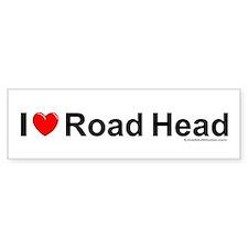 Road Head Bumper Sticker