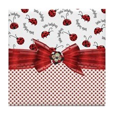 Little Ladybugs Tile Coaster