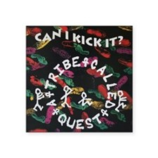 "ATCQ or A TRIBE CALLED QUES Square Sticker 3"" x 3"""