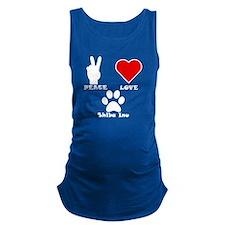 Peace Love Shiba Inu Maternity Tank Top