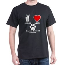 Peace Love Parson Russell Terrier T-Shirt