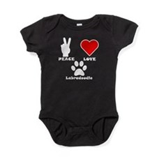 Peace Love Labradoodle Baby Bodysuit
