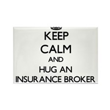 Keep Calm and Hug an Insurance Broker Magnets