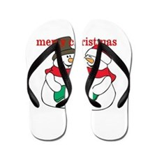 merry christmas, selectabel text Flip Flops