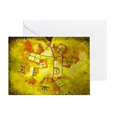 Paul Klee art: Revolving House Greeting Card