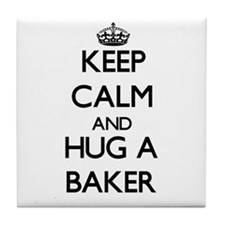 Keep Calm and Hug a Baker Tile Coaster