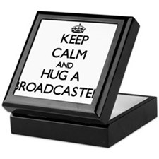 Keep Calm and Hug a Broadcaster Keepsake Box